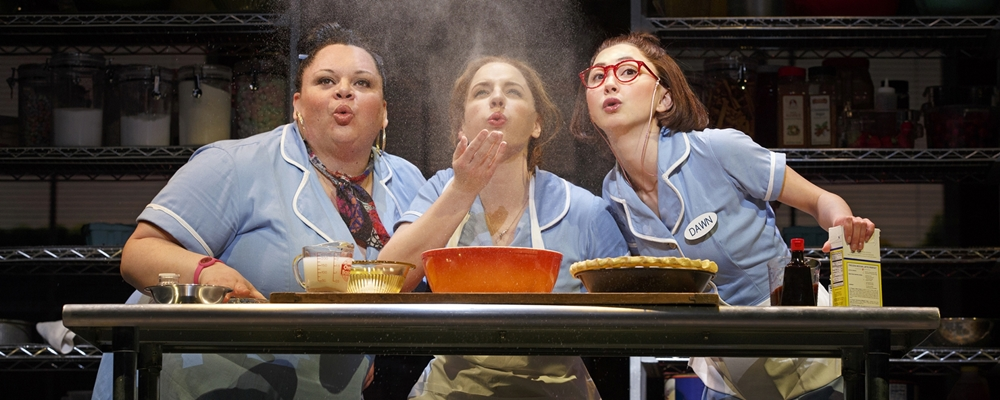 WAITRESS MUSICAL ORIGINAL BROOKS ATKINSON THEATRE 256 W. 47TH ST. Jessie Mueller  Jenna  Nick Cordero  Earl  Christopher Fitzgerald  Ogie  Keala Settle  Becky  Eric Anderson  Cal  Charity Angel Dawson  Ensemble  Thay Floyd  Ensemble  Drew Gehling  Dr. Pomatter  Kimiko Glenn  Broadway debut	Dawn  Molly Hager  Broadway debut	Ensemble  Aisha Jackson  Ensemble  Dakin Matthews  Joe  Jeremy Morse  Broadway debut	Ensemble  Ragan Pharris  Broadway debut	Ensemble  Stephanie Torns  Ensemble  Ryan Vasquez  Ensemble