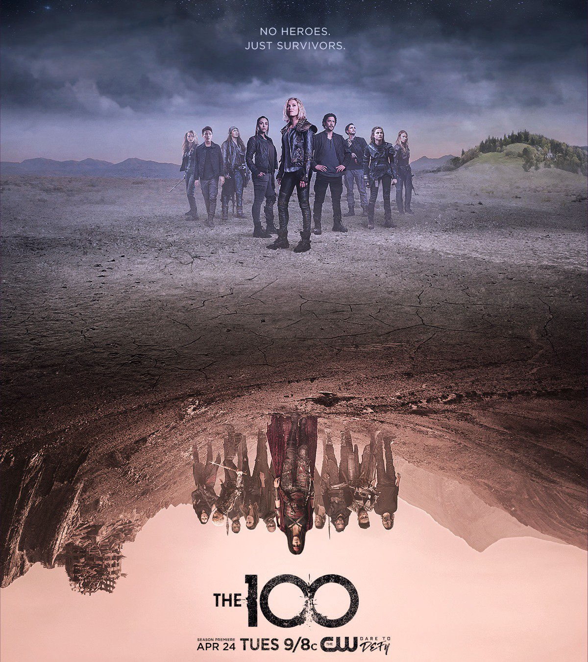over analyzing 39 the 100 39 season 5 poster. Black Bedroom Furniture Sets. Home Design Ideas