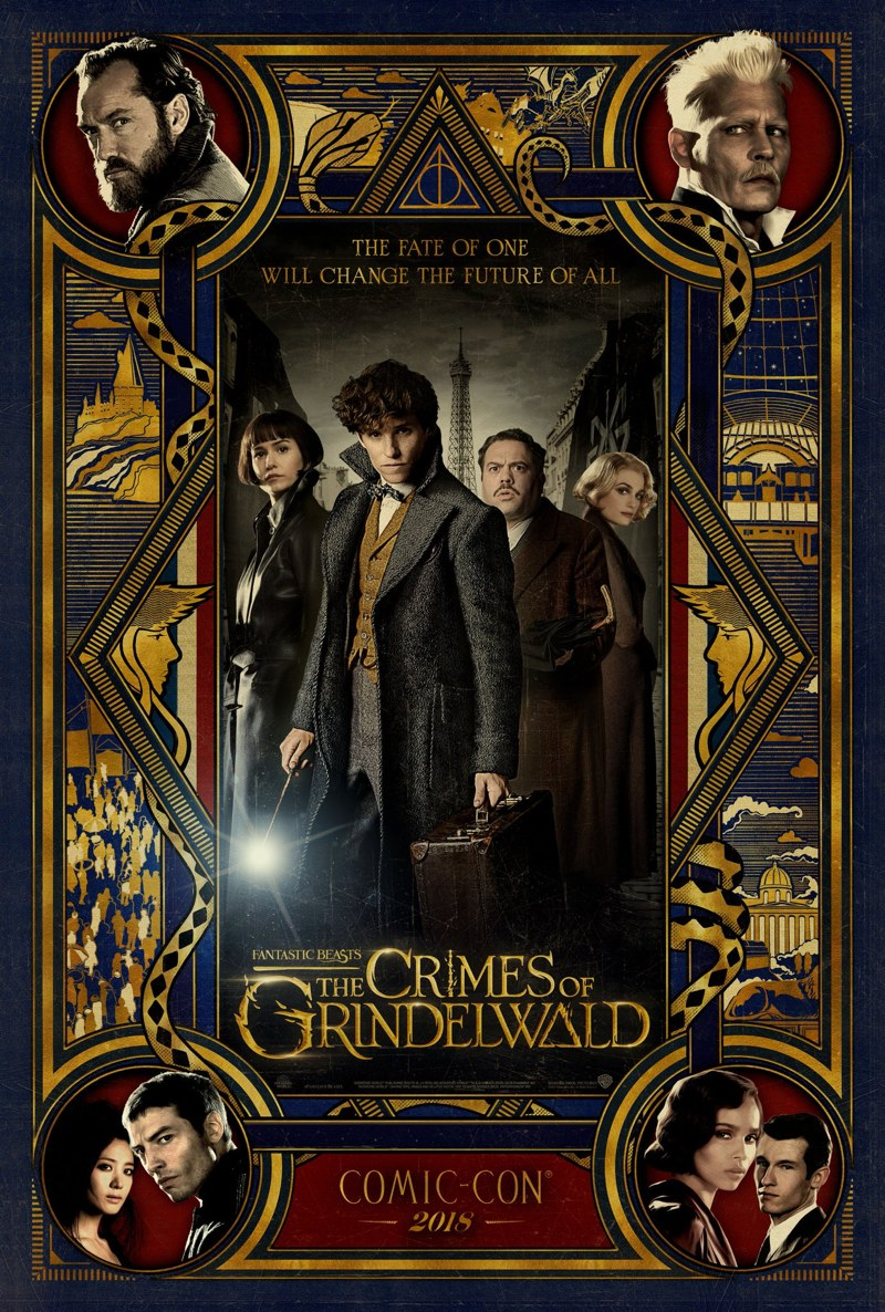 Fantastic Beasts The Crimes of Grindelwald SDCC poster