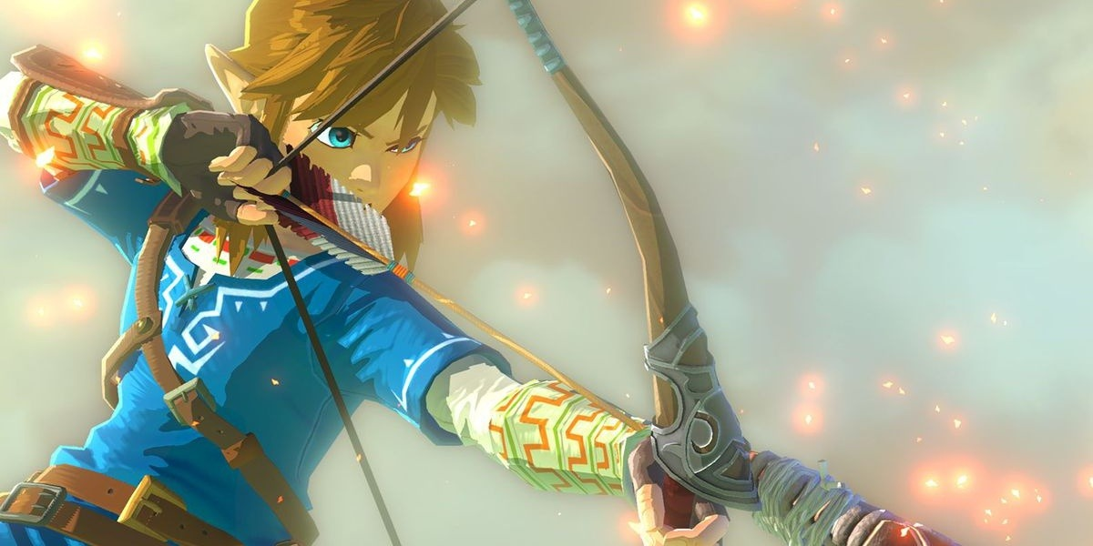 link the legend of zelda breath of the wild open world game