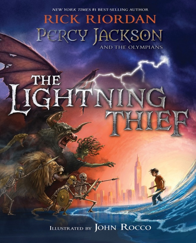 Illustrated Book Cover Review : Lightning thief illustrated edition book review a must