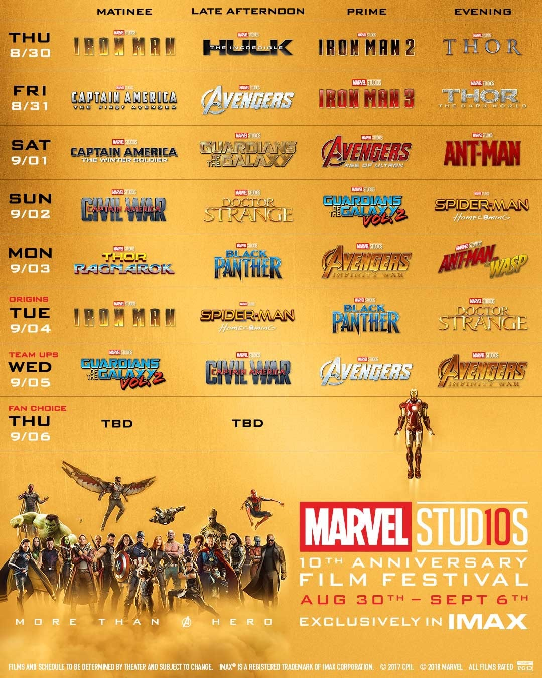 You can watch every Marvel movie in Imax this month