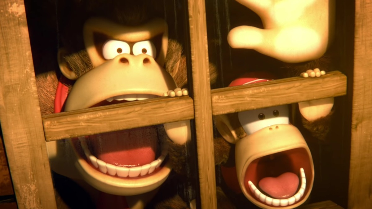 smash direct donkey kong and diddy kong shocked