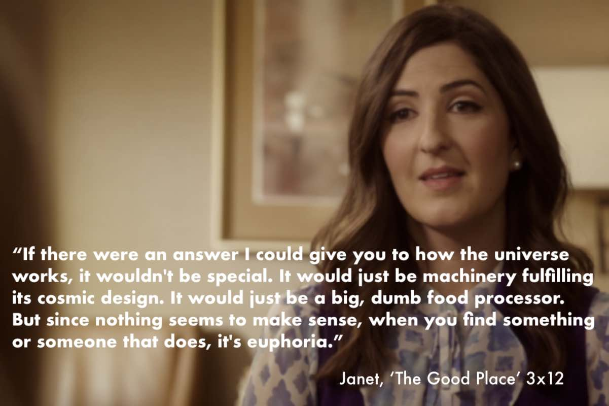 Image result for the good place janet it's euphoria