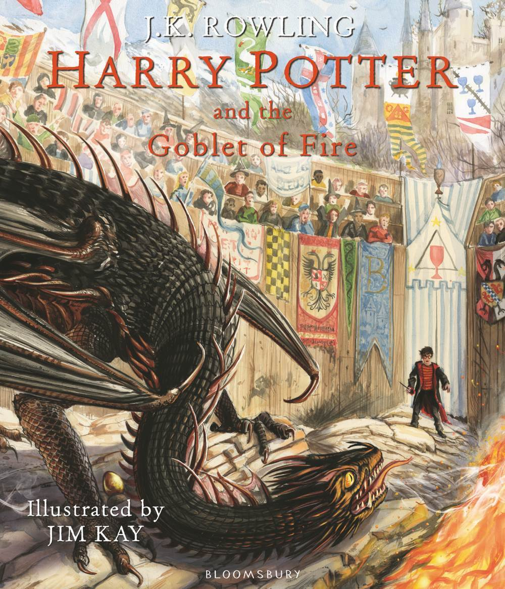 Goblet of Fire Illustrated Edition Release Date Cover