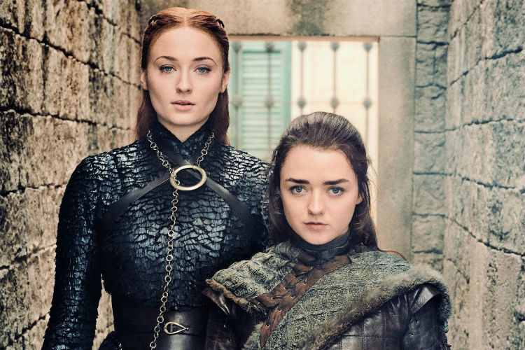 Arya and Sansa in Game of Thrones
