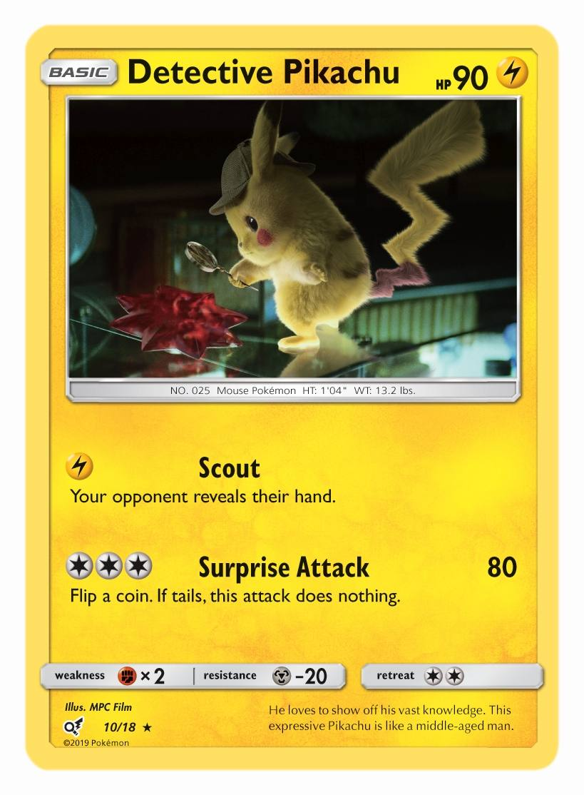 These Are The Coolest Looking Detective Pikachu Cards Hypable