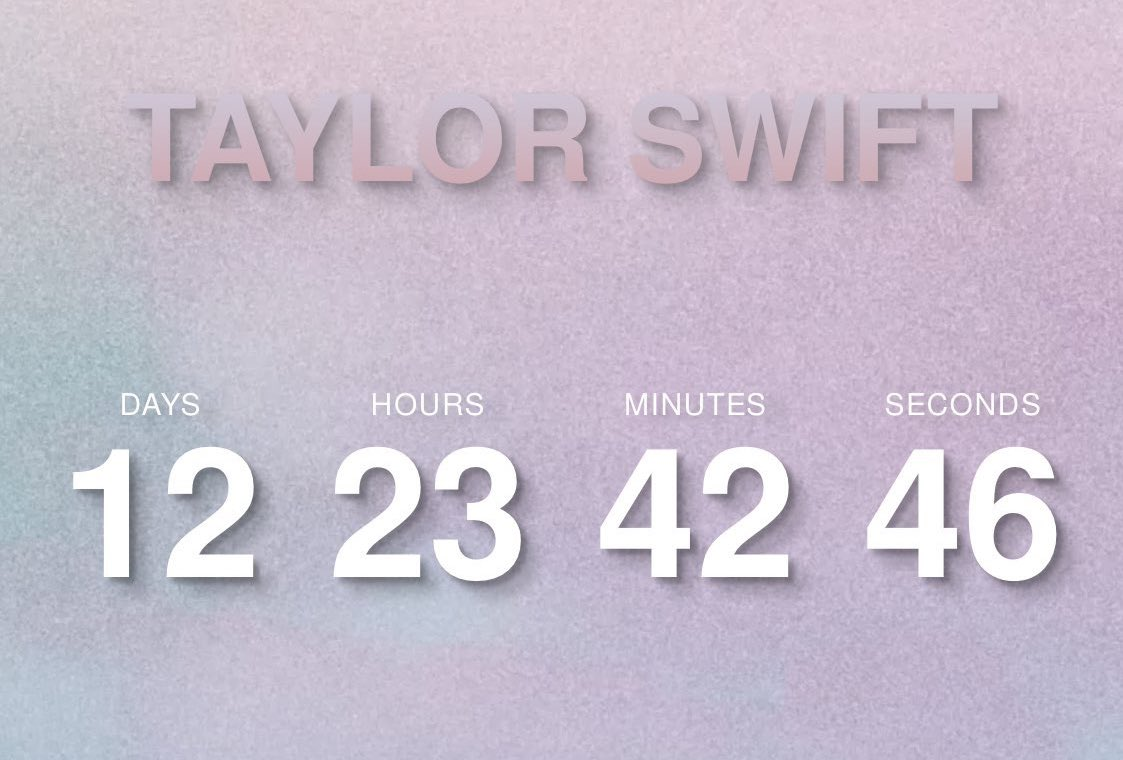 Taylor Swift starts mysterious countdown clock to April 26 on her