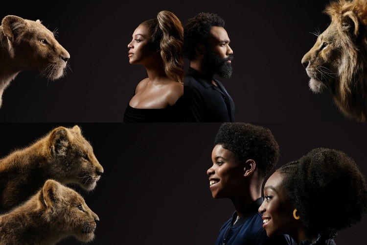 Beyonce and Donald Glover in the Lion King