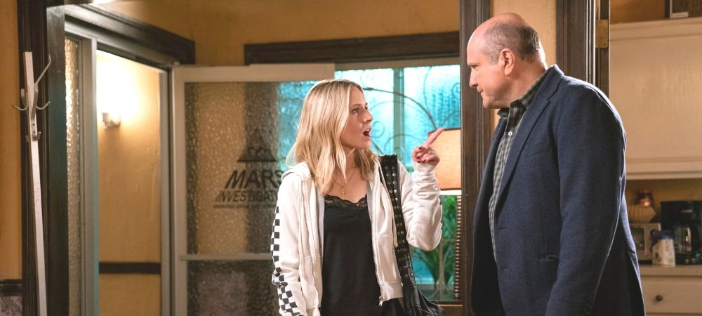 'Veronica Mars' season 4 -- Keith and Veronica at Mars Investigations