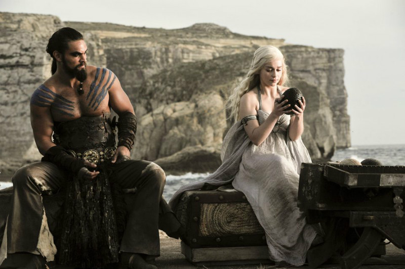 Dany and Khal Drogo in Game of Thrones season 1