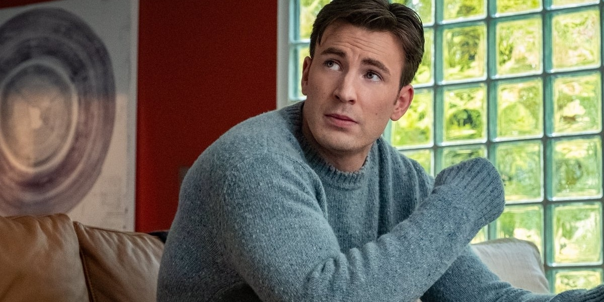 knives out sweater blue chris evans