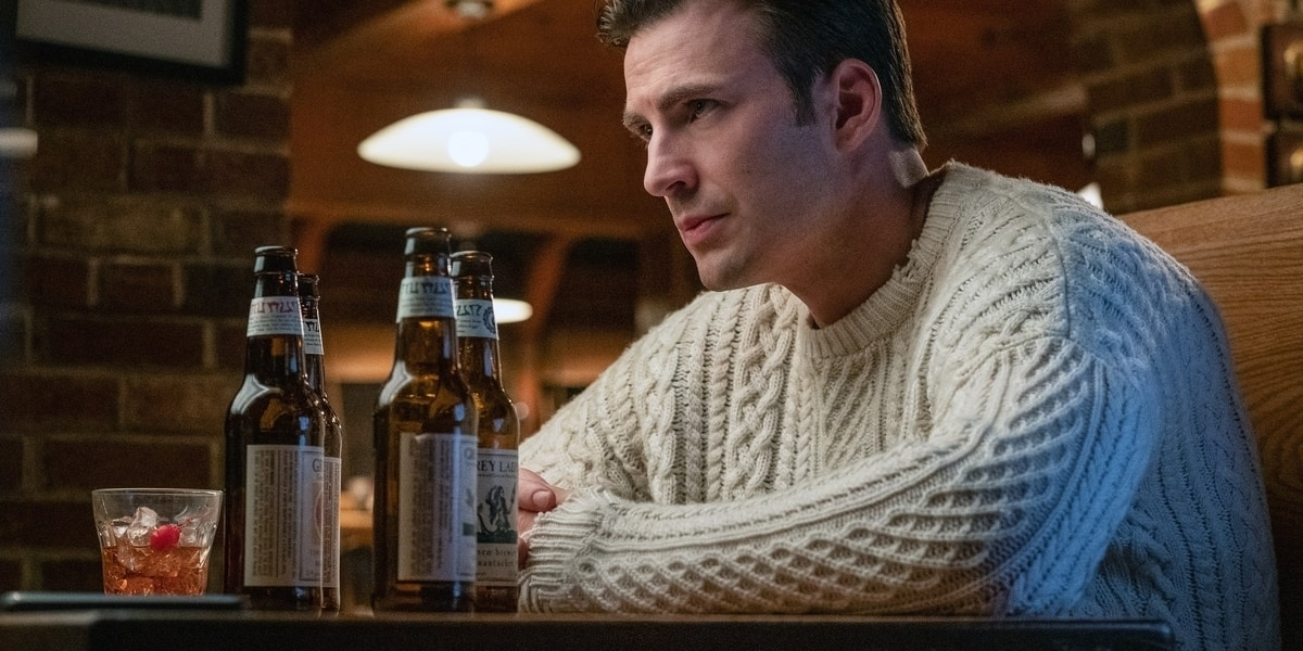 knives out sweater chris evans