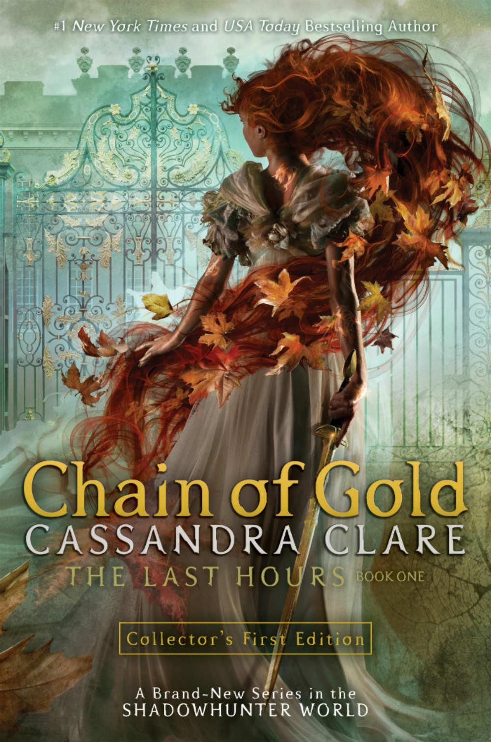 Chaîne recouverte d'or Cassandra Clare